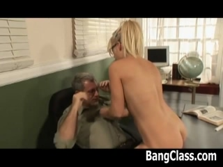 Horny College Girl Gets Her Pussy Licked And Fucked By Her Teacher