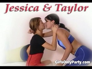Two nasty girls love to lick a pussy