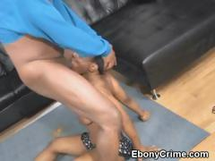 Black Ghetto Slut Rough Blowjob And Mounted