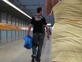 Gangbang sex - gangbang at a subway train PART 1