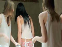 Skinny Girls Eating Holes