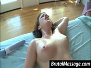 Masseur fuck a babe s oiled pussy
