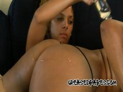 Big Booty Bitches Oil Up Their Big Asses