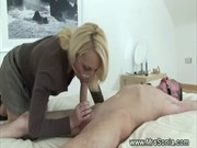 Two dominas subduing a cock