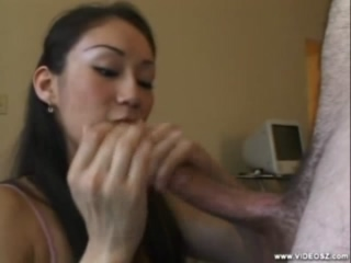 Sexy Asian Veronica Iris Sucking Cock In POV