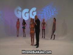 Skinny Brunette Girl Loves Sucking A Big Part5