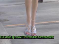 Liz Beautiful Blonde Girl Walking