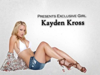 Stunning blond babe Kayden Kross sucks & fucks big-dick to orgasm