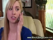 Blond voyeur walks in on blowjob and join ...