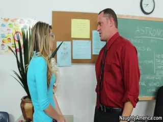 Blonde Student Staci Silverstone Wants To Have A Hardcore Sex With Her Professor