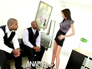 two big black dicks bang deep anal