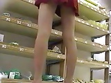Upskirt in store hidden cam