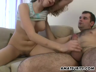 Busty Amateur Girlfriend Sucks And Fucks With Facial 4