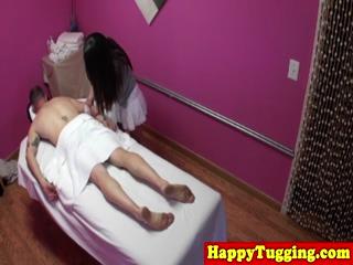 Real Asian Masseuse Jerking Dick 5
