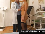Classy girl at gyno doctor caught on hidden cam