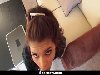 ShesNew Latina Girlfriend Homemade Sex Tape