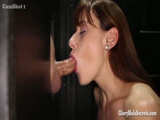 Gloryhole Secrets Redhead Swallows 13 Loads Of Cum