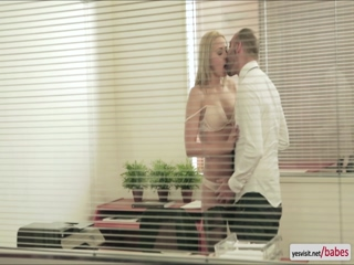 Naughty hungarian beauty tries throbbing cock deep in her mouth and dripping wet pussy