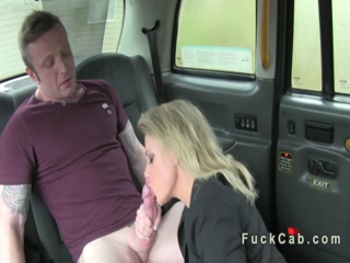 Couple banging in a cab in motion