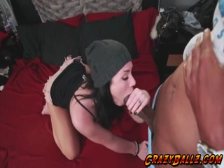 Horny busty babe Andy Sandimas wanted a big dick