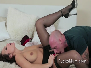 Hairy twat Milf banged in lingerie
