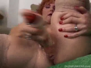 Redhead Cougar Can Squirt With Just Her Fingers And Her Vibrating Dildo