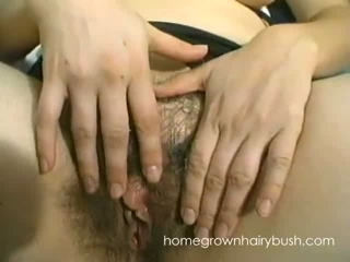 Two Lesbian Babes Take Turns Licking Each Others Hairy Pussies
