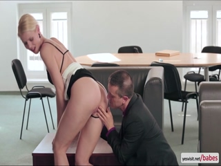 Hot blonde slut Lynna Nilson fucked doggystyle by the window