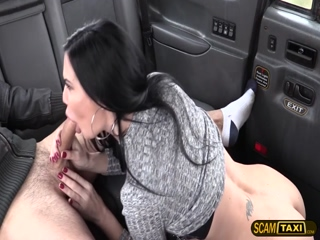 Gorgeous womans tight pussy gets banged by the driver