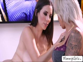 Slutty ladies Nina and Jelena performs hot masturbation