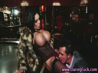 Classy euro babe licked