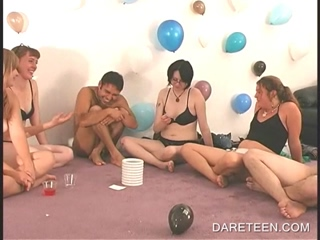 College naked guy gets cock teased in Dare ring