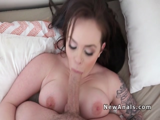 Homemade sex ends with anal fuck