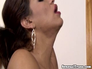 Latina tgirl passionately rimmed by lover