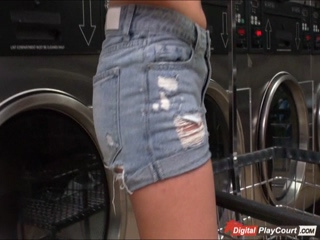 Karlee fucks while waiting for laundry