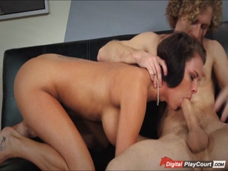 Peta deepthroats her boss after work