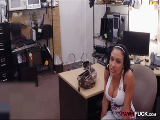 Busty latin girl banged at the pawnshop