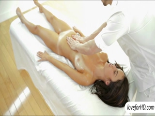 Busty babe Dillion Harper sensual massage ends up in hot sex