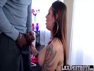 Tattoed slutty Tori fucked by Lexington
