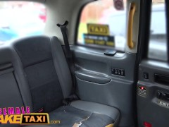 Female Fake Taxi Sexy minx driver sucks and fucks studs big black cock