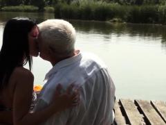 Sexy Teen Sucks Grandpa