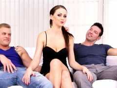 Two Gay Dudes Fuck A Sexy Chick