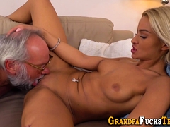 Teen Rimmed By Old Guy