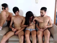 Amateur Slut At Bukkake Gangbang