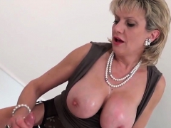 Unfaithful British Mature Lady Sonia Displays Her Big Melons