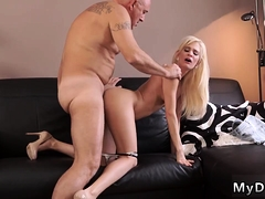 Young And Old Gang Bang Horny Blondie Wants To Attempt