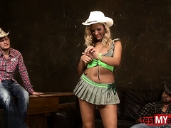 Natural Tits Cowgirl Dp And Facial