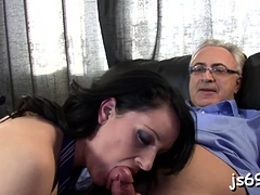Angel Gives Oral Job Then Takes It Up Her Cunt