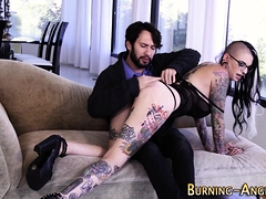 Spanked Tattooed Rocker