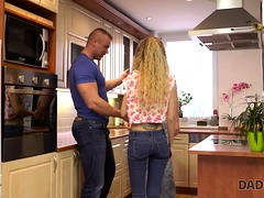 Daddy4k. Naughty Dad Unexpectedly Seduces Son's New...